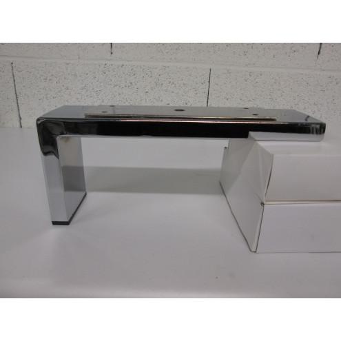 pied métal chrome pour canapé et fauteuil