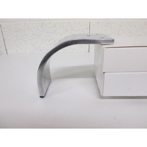 Pied métal forme 1/4 de cercle, pour canapé et fauteuil