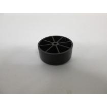Pied bois forme rond couleur noir, pour canapé et fauteuil