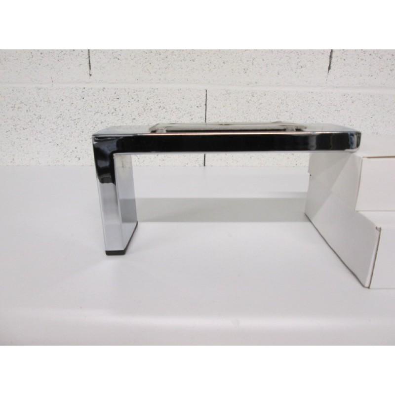 Pied métal forme L pour canapé et fauteuil