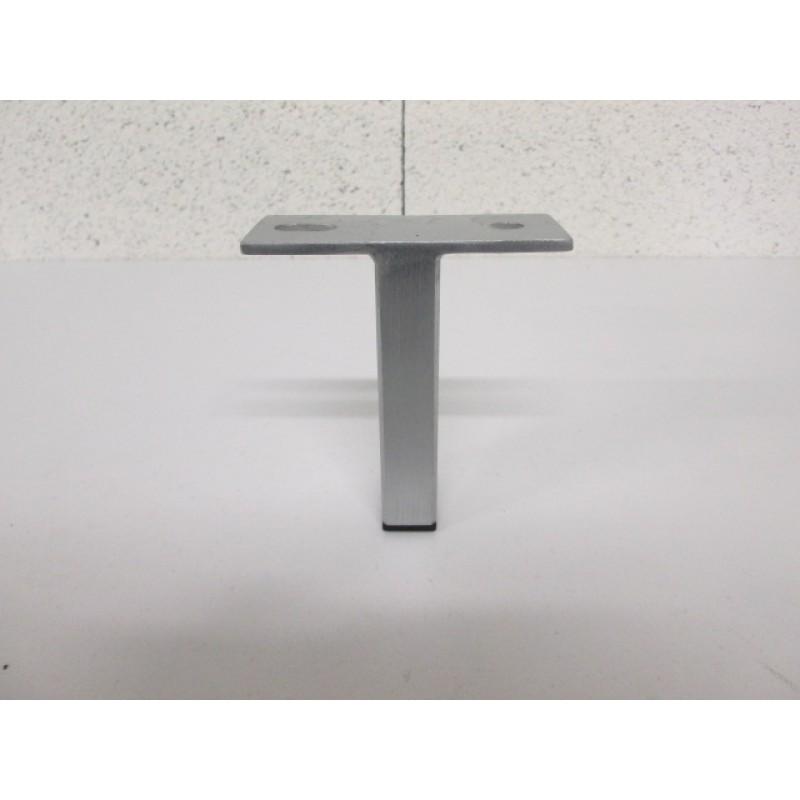 Pied métal couleur alu, forme T, pour canapé et fauteuil
