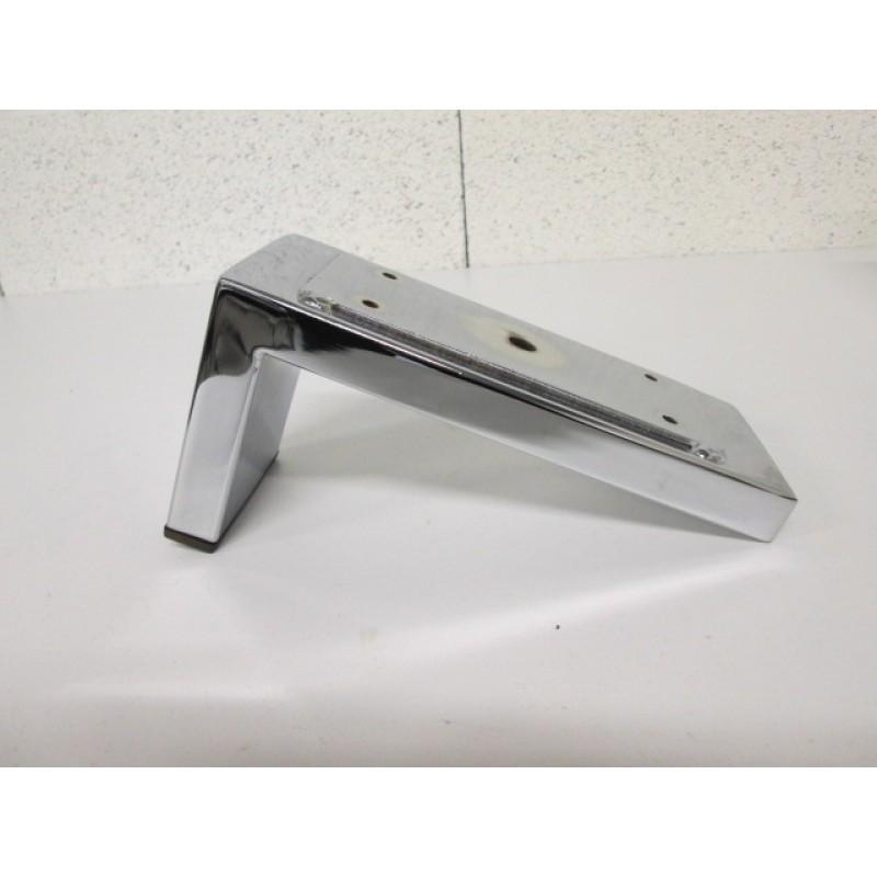 Pied métal chromé forme L, pour canapé et fauteuil