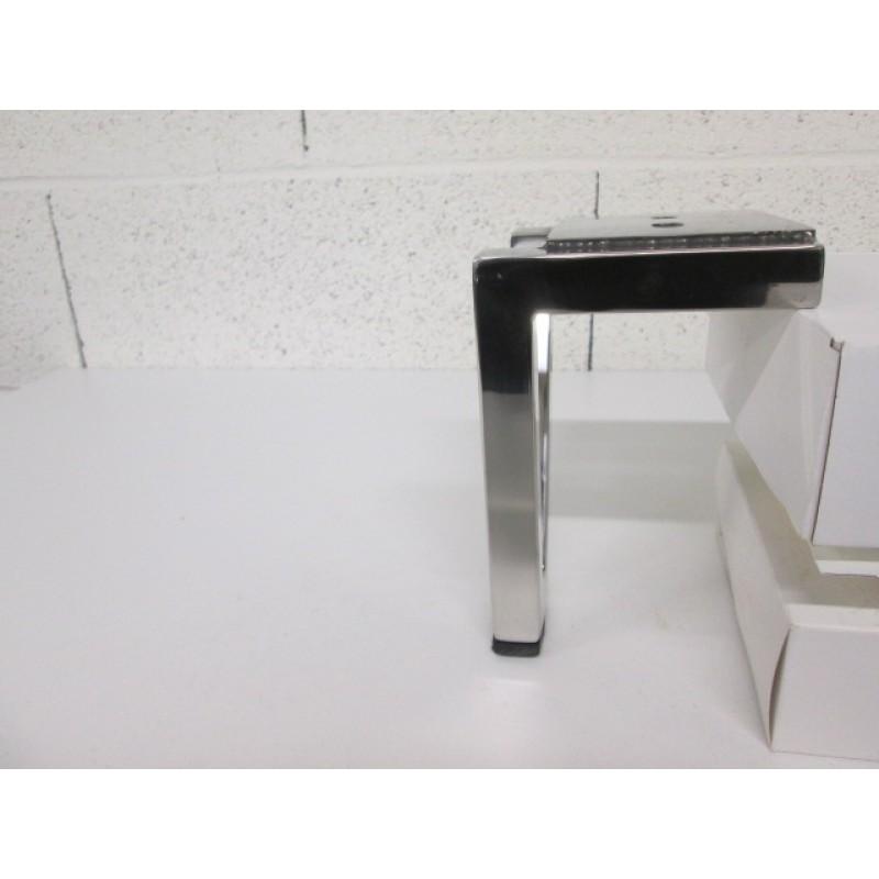 pied métal en forme de triangle couleur chrome, pour canapé et fauteuil