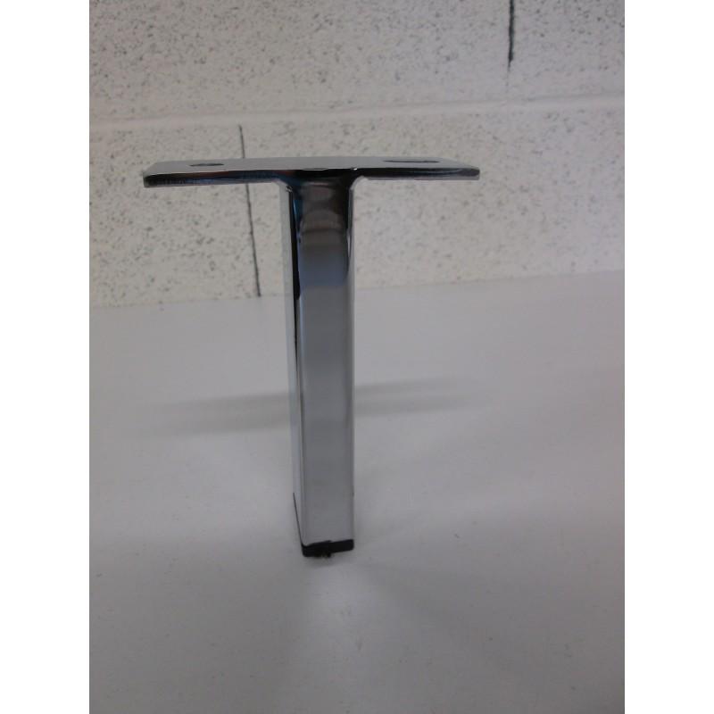 Pied métal forme T  pour canapé et fauteuil
