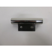 Pied métal chrome forme tube - L:180mm  l:80mm  H:50mm