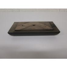 Pied bois rectangulaire - L:240mm  l:125mm  H:40mm