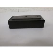 Pied bois Rectangulaire - L:160mm  l:80mm  H:50mm