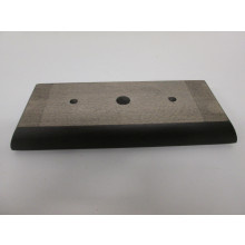 Pied bois forme Rectangle - L:310mm  l:130mm  H:40mm