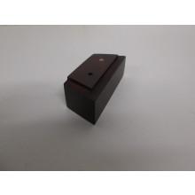 Pied bois forme Trapèze -  L:90mm/120mm  l:45mm  H:40mm