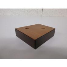 Pied bois forme Trapèze - L:100mm   l:100mm