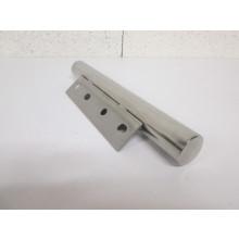 Pied métal forme Tube - L:320mm  l:80mm  D:40mm