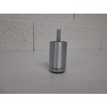 Pied métal centrale forme Rond - D:40mm  H:70mm