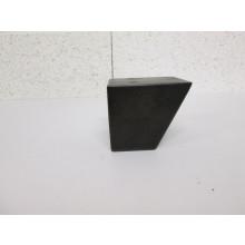 Pied bois forme Trapèze - L:80mm  l:85mm  H:70mm