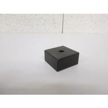 Pied bois forme Carré - L:60mm  l:60mm  H:30mm