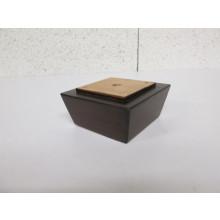 Pied bois forme Trapèze - L:100mm  l:100mm  H:50mm