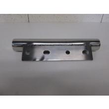Pied métal forme Tube - L:260mm  l:75mm/Diam 35mm  H:50mm