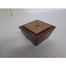 Pied bois forme Trapèze - L:115mm   l:115mm  H:60mm