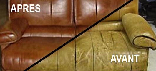 avant et après renovation de canapé