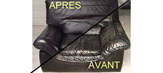 avant et après renovation de fauteuil