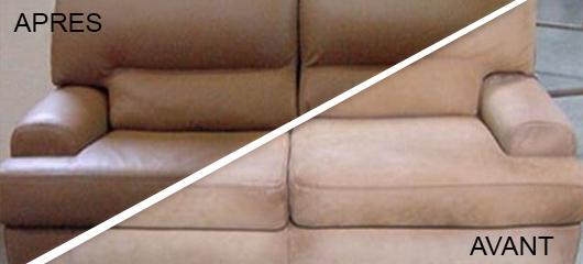Transformation d'un canapé nubuck en cuir lisse