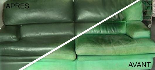 Transformation d'un canapé nubuck en cuir lisse 2