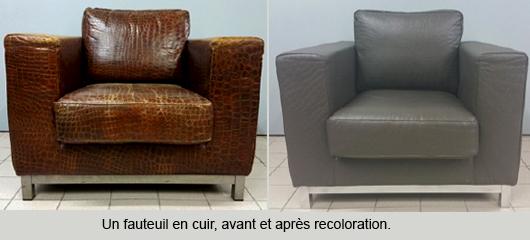 fauteuil avant après coloration